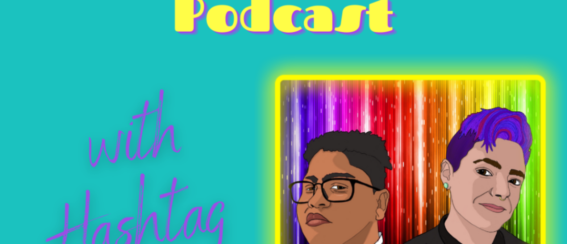 """A graphic that reads """"Into the Archives: A Fanfiction Podcast with Hashtag Ruthless"""" and has an illustrated graphic of Jessie Blount and Lark Malakai."""